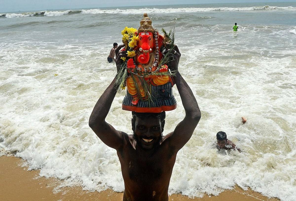 Фестиваль Ганеши в Индии (35 фото)