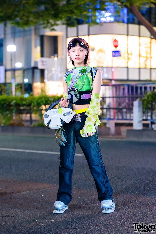Модные и яркие персонажи с улиц Токио - 41 (40 фото)