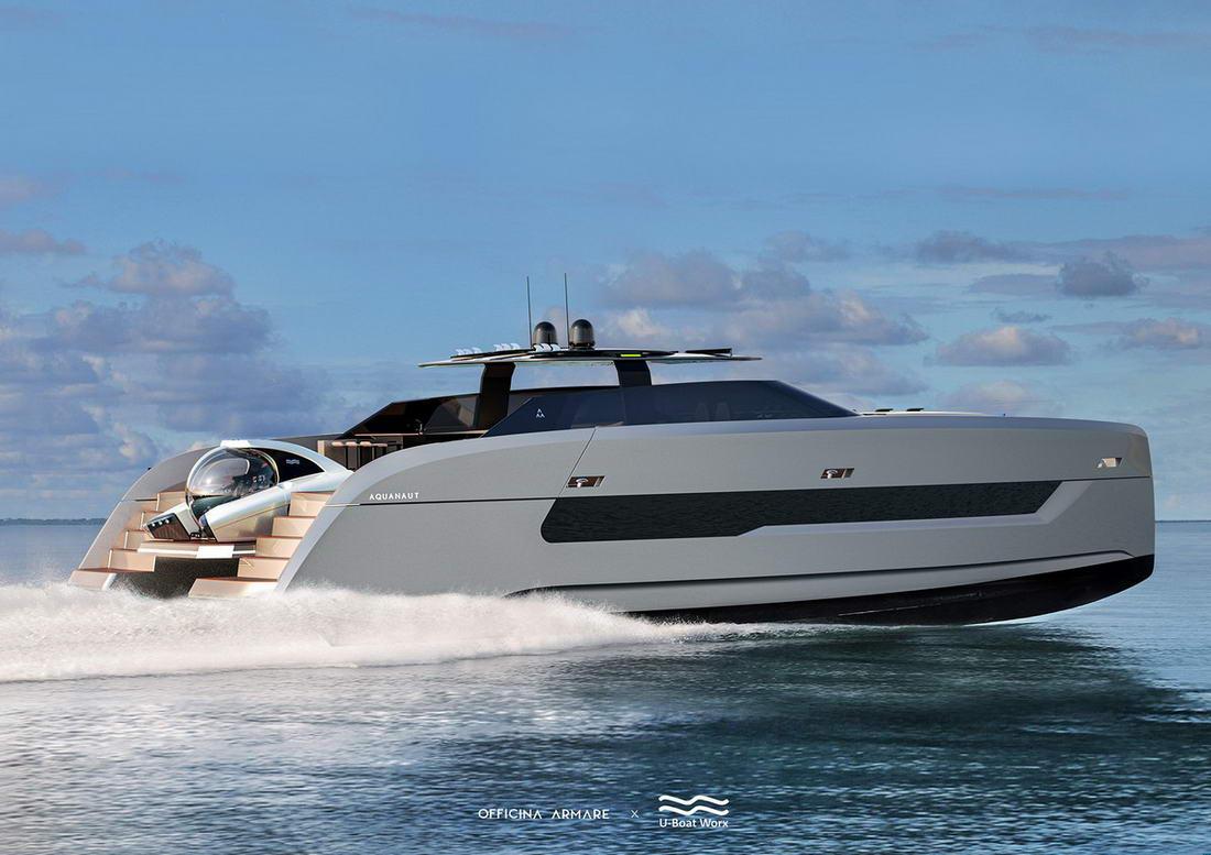 Классная суперяхта с собственной подводной лодкой стоимостью £2,3 млн
