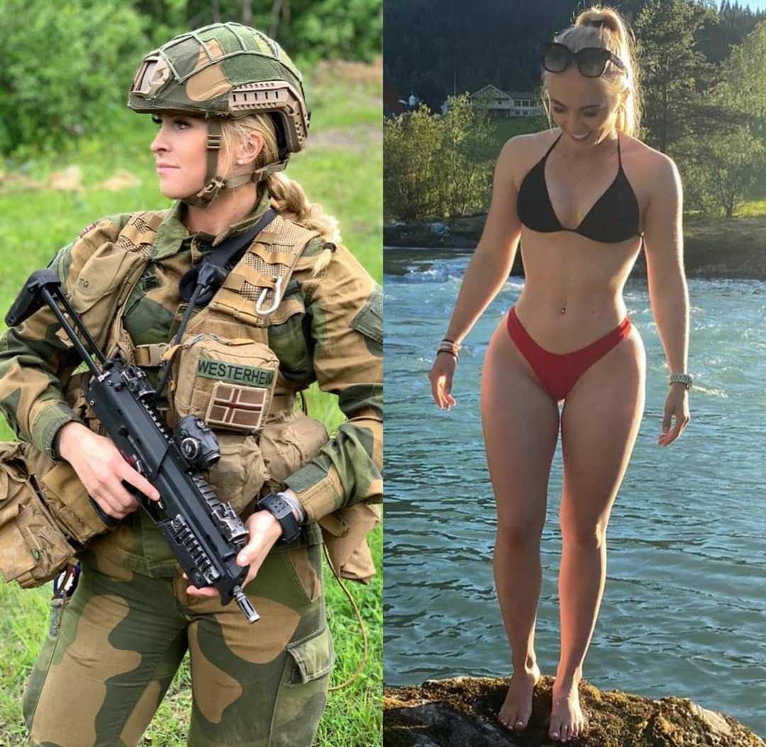 Девушки в форме и без неё - 15 (40 фото)