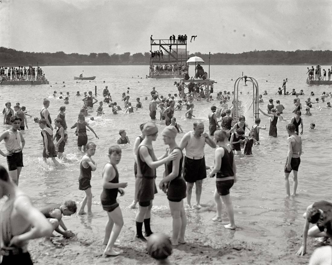Пляжи Америки 1904-1930 (99 фото)