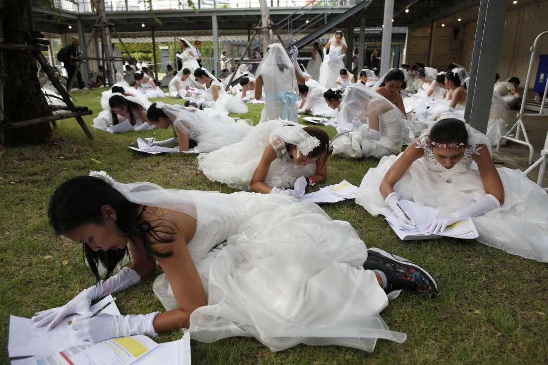 Забег невест в Таиланде 2017 (15 фото)